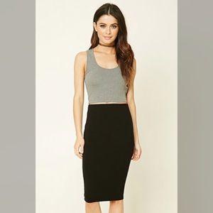 Forever 21 Side Slit Pencil Skirt